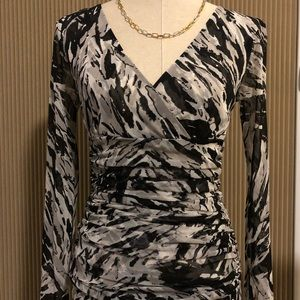 INC Black & White Blouse